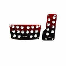 Universal Nitro Red/Black Foot Pedals Pads Covers Automatic Transmission