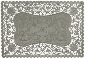 Royal Rectangular Foil Placemats, 9.75 x 14.5 Inches, Silver, Pack of 6 (26515)