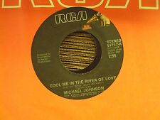 """MICHAEL JOHNSON Ponies/Cool Me In The River Of Love 7"""" 45 mid-80's country"""