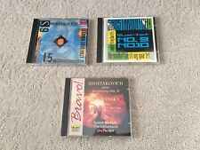 (3) lot classical music CDs - Shostakovitch - over 3 hours of music