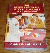 Original 1979 Dodge Sportsman Plymouth Voyager Shop Service Manual 79