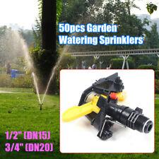 "50pcs 1/2"",3/4"" Plastic Lawn Irrigation Sprinklers Garden Watering Spray Nozzles"