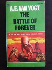 A.E. VAN VOGT THE BATTLE OF FOREVER ACE FIRST EDITION SCI-F PULP JOHN SCHOENHERR