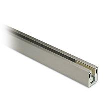 Glasprofil Edelstahleffekt für Glasstärke 12 - 12,76 mm, Länge 2,5 m
