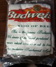 "Vintage ""Mystery"" Budweiser Classic Lager King of Beers T Shirt Xl Sealed Nos"