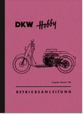 DKW Hobby Motorroller Bedienungsanleitung Betriebsanleitung Handbuch