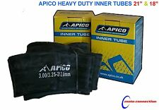 "APICO HEAVY DUTY 21"" FRONT & 18"" REAR INNER TUBES FOR KTM EXC125 EXC200 2016"