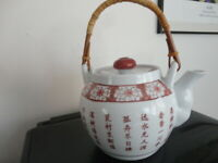 Vintage Large Villa Homewares Chinese Style Calligraphy Teapot