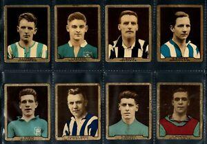 D. C. THOMSON STAR FOOTBALLERS (METAL) 1932 SET OF 8 FOOTBALLERS