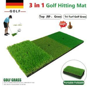 Golf Matte Turf Abschlagmatte 30 x 60 cm Puttingmatte + Golf Tees Training Ball