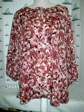 White Stag XXL (20) Rose Floral Long sleeve tunic top