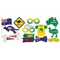 AUSTRALIAN PHOTO BOOTH PROPS CUTOUTS DECORATIONS PARTY BBQ AUSSIE AUSTRALIA DAY