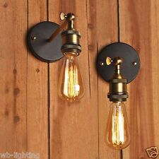 Loft Copper Vintage Industrial Rustic Sconce Wall Light Lamp Fitting LED Bulb