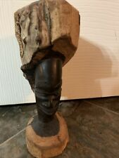 vintage african wood carving