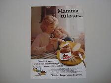 advertising Pubblicità 1986 NUTELLA FERRERO