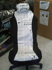 Coppia coprisedili anteriori carta stampata giornale quotidiano bianco e nero