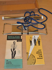 VINTAGE ISOMETRIC MINUTE A DAY GYM ROPE HOME TRAVEL EXERCISE SYSTEM WITH CHART