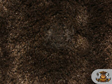 """Mini Minky Shaggy BROWN Fabric / 54"""" Wide / Sold by the yard"""