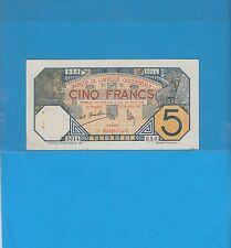Banque de l'Afrique Occidentale Sénégal 5 francs DAKAR du 1er Septembre 1932