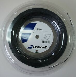 New BabolaT RPM BLAST 125/17 200M Reel Tennis String, Black