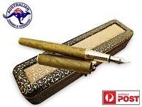 1095 Damascus Steel Custom Handmade Unique Fountain Pen Student Writer Gift V102