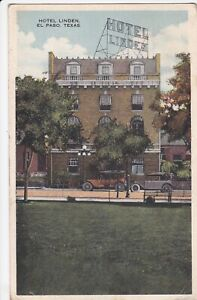 POSTCARD HOTEL LINDEN EL PASO, TEXAS NOT POSTED WHITE BORDER CARD