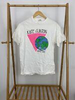 VTG Kate Clinton LGBT Comedian World Tour Single Stitch T-Shirt Size L USA