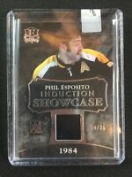 2013-14 IN THE GAME INDUCTION SHOWCASE PHIL ESPOSITO JERSEY #ed 24/25