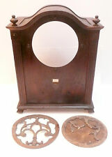 vintage * SPARTON JR. CATHEDRAL RADIO part: WOOD SHELL with 2 SPEAKER GRILLS