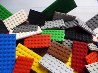 LEGO 25 Platten dünn Bauplatten rechteckig quadratisch Sonderformen Konvolut