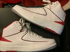 Air Jordan retro 2 size 13 white/red worn once