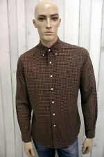 RALPH LAUREN Taglia M Camicia Uomo Cotone Shirt Chemise Casual Manica Lunga