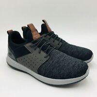 Skechers Men's Delson Camden Memory Foam Slip On Sneakers Black/Gray, Pick A Siz