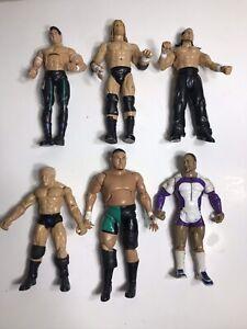 "WWE Wrestling Figurines - 1990's & 2000's Jakks Pacific 7"" Lot of 6"