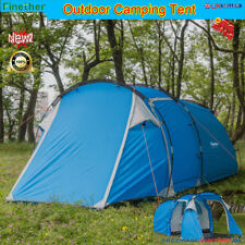 Waterproof 3man Camping Tunnel Tent Outdoor Hiking Traveling Park Beach Festival