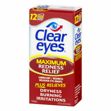 Clear Eyes Redness Relief Drops LARGE bottles Pharmacy Fresh EXP 4/21