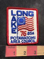 Vtg 1976 LONG LAKE POTAWATOMI AREA COUNCIL Bicentennial Boy Scouts Patch 92NL