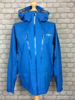 RAB MENS UK XL BLUE DOWNPOUR ALPINE LIGHTWEIGHT SHELL JACKET RRP £180 AD