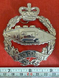 BRITISH ARMY 4TH ROYAL TANK REGIMENT RTR PIPER SCOTLAND RARE QC GLENGARRY BADGE