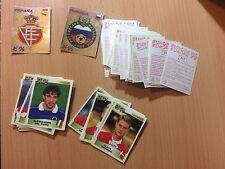 RARE EURO 1996 EM 96 PANINI lot of 96 Stickers red backs inc 2 BADGES