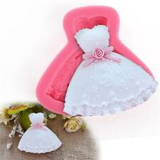 Wedding Dress Shape Fondant Mold Cake Decorating Sugar Chocolate Silicone Mold D