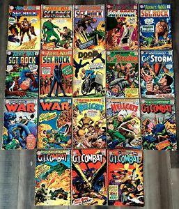 """18 VTG 1960's DC """"War"""" Comics Sgt Rock GI Combat Capt Storm Hellcats Doom Patrol"""