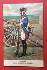 CPA. Illustrateur CATTLEY. Gunner. Royal Regiment of Artillery. Canon. Uniforme.
