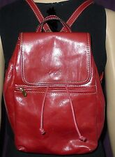 Luigi Petrucci  Wine Red Leather Backpack  Tote Bag Purse - in very good conditi