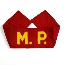 EARLY 1950S US MARINE CORPS USMC RED WOOL MP YELLOW LETTERS DOT MILITARY POLICE
