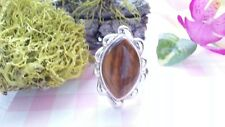 Beautiful Big Tiger Eye Heavy Solid Ring Real Sterling Silver*Size 9 *Z47