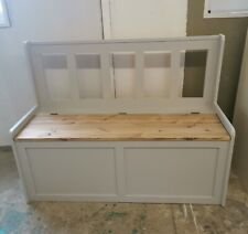 New Handmade Solid Pine 4ft Storage bench.. Delivery Available. Colour choice