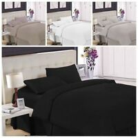 Egyptian Cotton Hotel Quality TC200  Duvet Cover Bed Set Single  Double  King