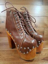 Jeffrey Campbell LULA Brown Handmade Havana Last Shoes/Boots Platform Size 6M