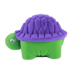Cute Turtle Shape Earrings Ring Velvet Gift Display Box Jewelry Necklace Bag Fm